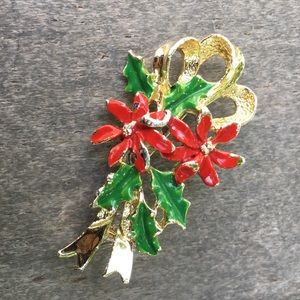Vintage Gerry's Poinsettia Christmas Pin